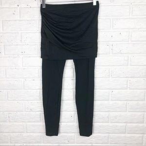 CABI black legging with mesh overlay skirt